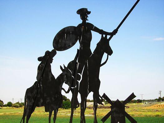 Don Quixote und Sancho Panza auf dem Camino de Levante