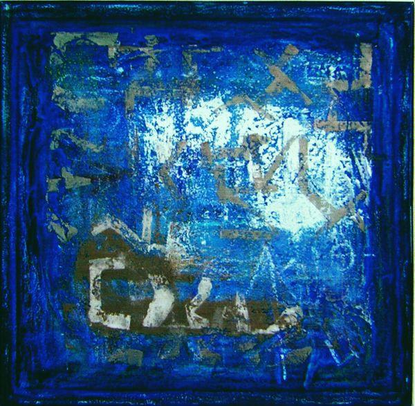 2.WASSERSCHRIFT 2007 ÖL auf Leinwand -100x100